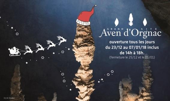 Aven d'Orgnac, Ardèche. Les fêtes de fin d'année sur le Grand Site !