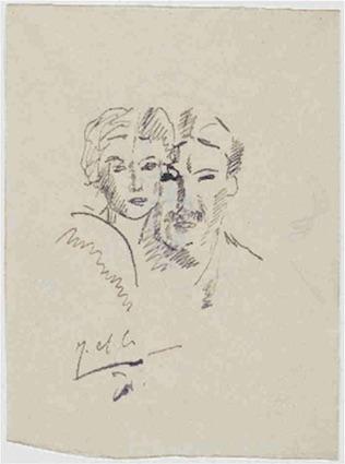 Fernand Léger, Jeanne et Fernand Léger, 1914, musée national Fernand Léger
