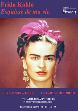 Frida Kahlo, Esquisse de ma vie, théâtre des Asphodèles, Lyon, du 14 au 16/1/18