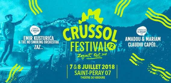 St-Péray (Ardèche) - Crussol Festival 2018 : C'est parti ! Sont annoncés Emir Kusturica, Zaz, Amadou & Mariam, Claudio Capéo