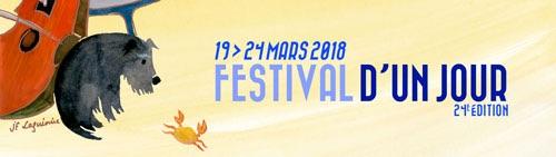 Le festival d'un jour, du 19 au 24 mars 2018 dans 9 communes de Drôme et d'Ardèche