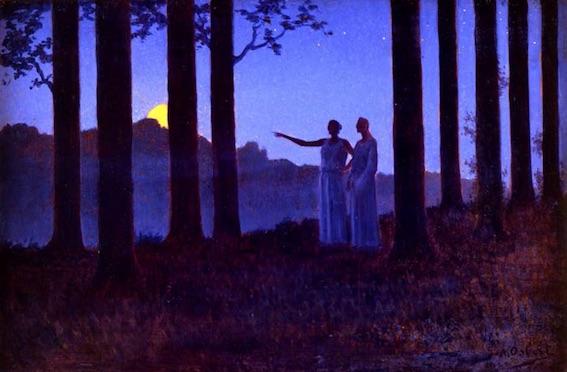 Alphonse Osbert (1857-1939), Le Mystère de la nuit, 1897, Collection privée © Thomas Hennocque
