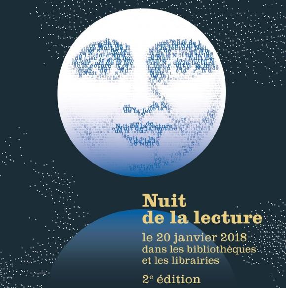 Deuxième édition de la Nuit de la lecture dans les bibliothèques et les librairies le 20 janvier 2018