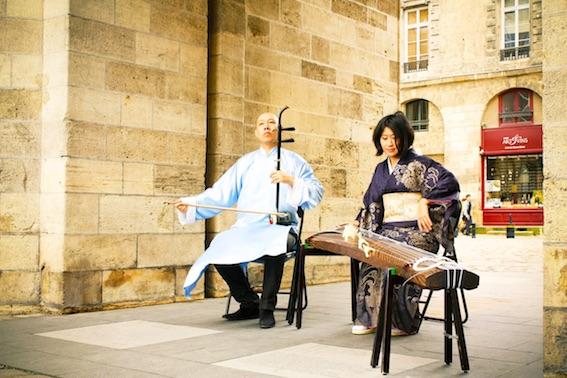 Nyons. Mieko Miyazaki & Guo Gan, harpe japonaise et violon chinois, le 3 février 2018