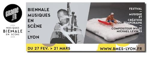 Biennale Musiques en Scène, festival de musique et création contemporaine du 27 février au 21 mars 2018 à Lyon