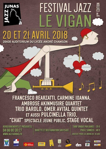 Festival Jazz du Vigan - 2018 (9e  édition, du 20 au 21 avril)
