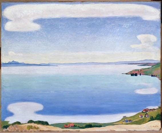Ferdinand Hodler (1853-1918) Le Lac Léman vu de Chexbres, vers 1905 Huile sur toile, 80 x 100 cm © Musée d'art et d'histoire de Genève