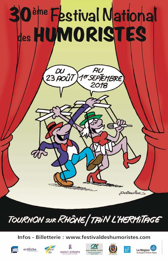 Festival national des humoristes Tournon-sur-Rhône-Tain-l'Hermitage : Alain Dubouillon signe la 30e affiche