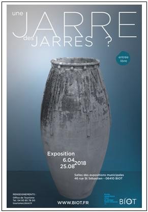 Biot (06). Exposition Une jarre, des jarres ? Salle d'expositions municipales du 6 avril au 25 août 2018