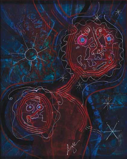 Jumeaux, Paia, 2013 Acrylique sur carton, 58,3 x 40,6 cm, Hawaii