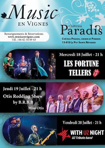 Le Puy Ste-Réparade (13) : Music en Vignes les 18, 19 et 20 juillet au Château Paradis