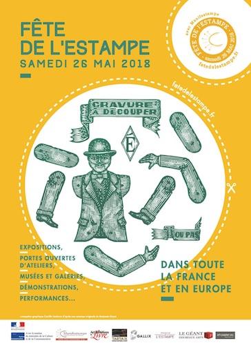 Fête de l'estampe dans toute la France et en Europe les 26 et 27 mai 2018