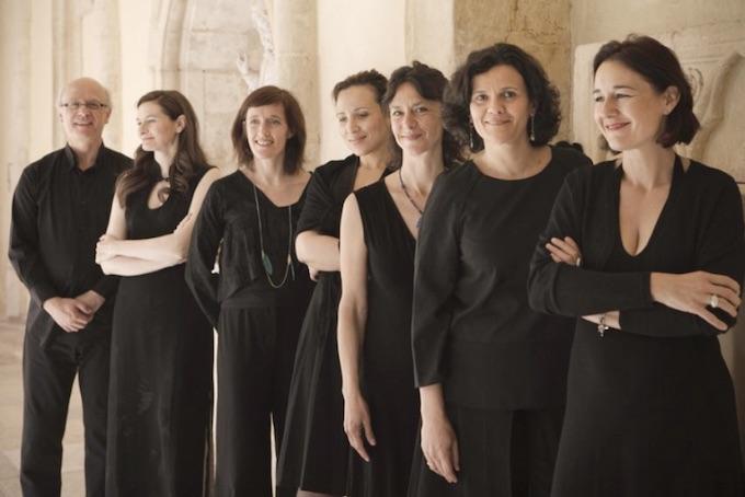 Ensemble Les Six Voix Solistes le 13 août à l'Aven d'Organc © DR