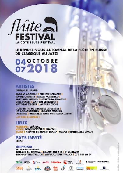 Suisse. La Côte Flûte Festival