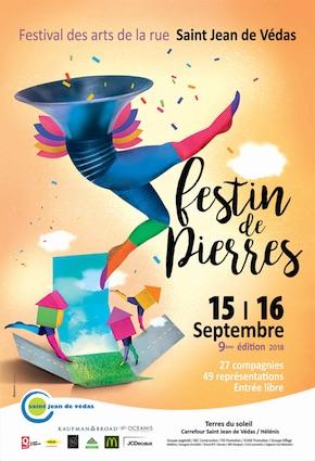 Saint Jean de Védas, festival Festin de Pierres, les 15 et 16 septembre 2018