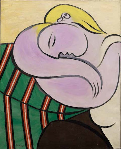 Pablo Picasso Femme aux cheveux jaunes, December 27, 1931 Huile et Ripolin (est.) sur toile, 100 x 81,1 cm Solomon R. Guggenheim Museum, New York Collection Thannhauser, donation, Justin K. Thannhauser 78.2514.59 © 2018 Estate of Pablo Picasso/Artists Rights Society (ARS), New York