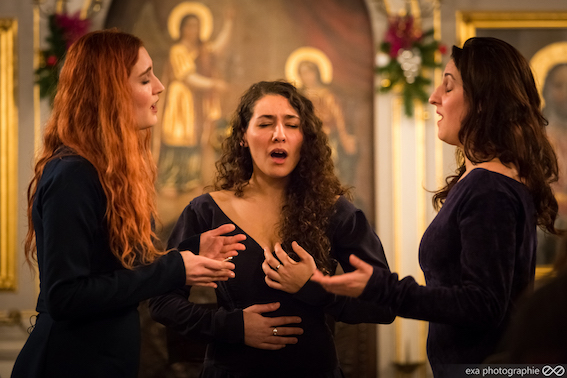 Els Janssens Vannmunster, mezzo-soprano,  Marie Pons, mezzo-contralto, Julie Azoulay, contralto © DR