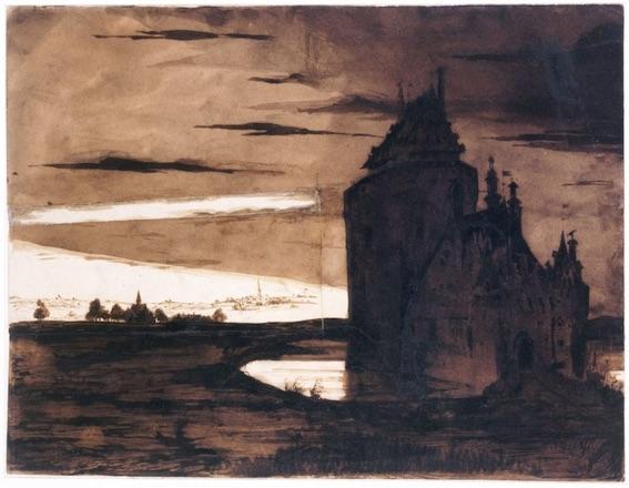 Vieux burg dans l'orage, Victor Hugo © Maisons de Victor Hugo / Roger-Viollet