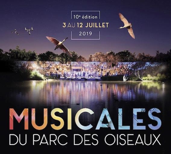 Villars les Dombes, Ain, Musicales du Parc des Oiseaux : la billetterie des Musicales 2019 est ouverte !