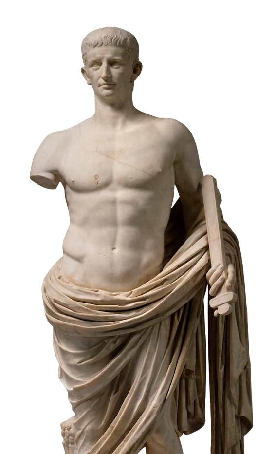 Statue de Claude dans la nudité héroïque, vers 40 ap. J.-C., marbre. Paris, musée du Louvre. Photo © RMN-Grand Palais (musée du Louvre) / Hervé Lewandowski