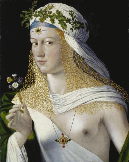 Bartolomeo Veneto, Portrait de femme vers 1506-1510? Bois, 43,5 x 34,3 cm © Städel Museum - U. Edelmann