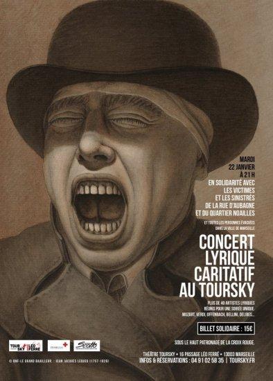 Marseille, théâtre Toursky, Concert lyrique caritatif mardi 22 janvier à 21h
