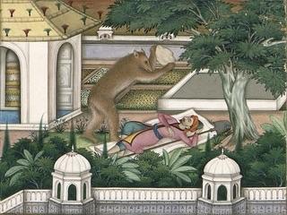 L'Ours et l'Amateur des jardins, Imam Bakhsh Lahori © Ville de Château-Thierry – Musée Jean de La Fontaine