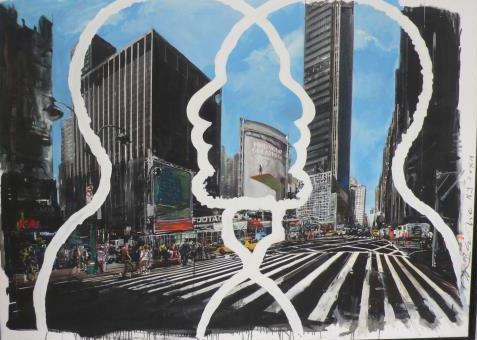 Greatnesses, 2012 Acrylique et technique mixte sur toile, 176 x 130 cm
