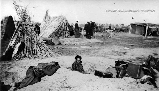 """1939, """"accueil"""" des réfugiés Républicains. Déjà ....."""