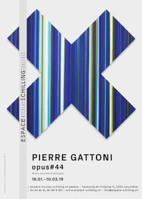 Neuchatel (Ch), exposition Pierre Gattoni à l'Espace Nicolas Schilling et Galerie du 19.1 au 10.3.19