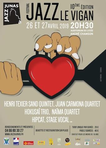 Festival Jazz du Vigan - 10e  edition, du 26 au 27 avril 2019