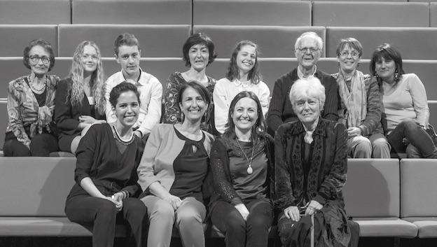 L'équipe du festival en compagnie de Tiziana de Carolis, compositrice en résidence 2018 © DR