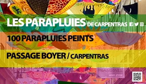 4e édition de l'exposition « les Parapluies de Carpentras » du 11 mars au 31 août 2019