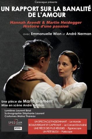 Tournon, Théâtre : Un rapport sur la banalité de l'amour, de Mario Diament, le 12/3/19 à 20h30