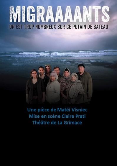 Migraaaants, de Matéi Visniec par le Théâtre de la Grimace (13) samedi 6 avril à 20h au Théâtre de la Joliette, Marseille