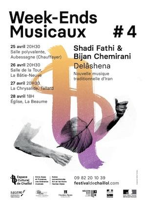 Week-Ends musicaux #4 - Delâshena en Pays Gapençais du 25 au 28 avril 2019