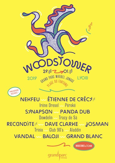 Festival Woodstower du jeudi 29 août au dimanche 1 septembre 2019, Grand Parc Miribel Jonage
