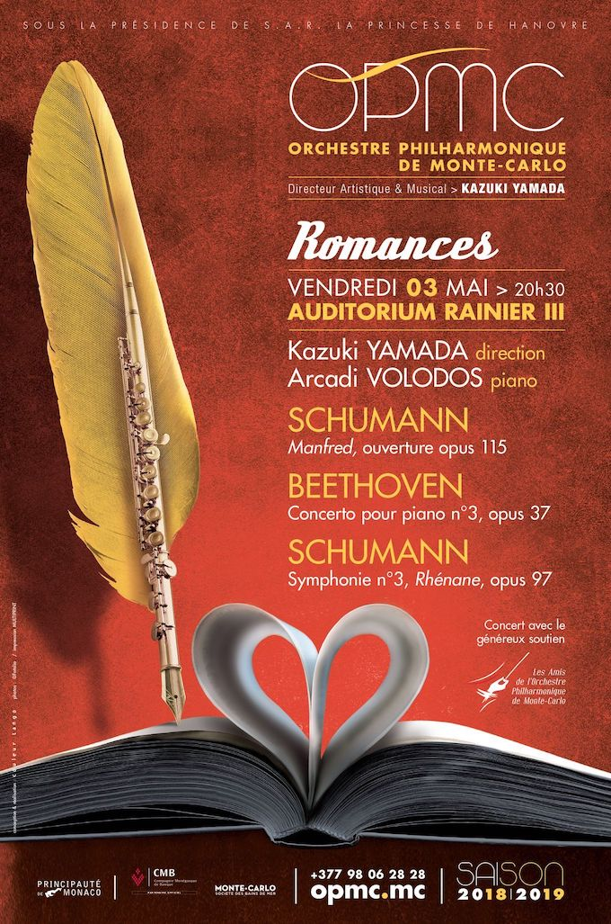 Concert Romances, Kazuki Yamada, direction ; Arcadi Volodos, piano, Auditorium Rainier III, vendredi 3 mai 20h30