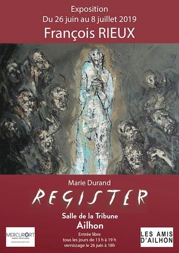 """""""Marie Durand - Résister"""", peintures de François Rieux, exposition Salle de la Tribune à Ailhon (07)"""