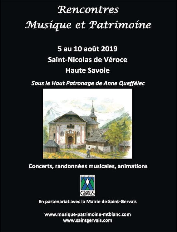 Saint-Nicolas de Véroce (74) - Festival Rencontres Musique et Patrimoine du 5 au 10 août 2019