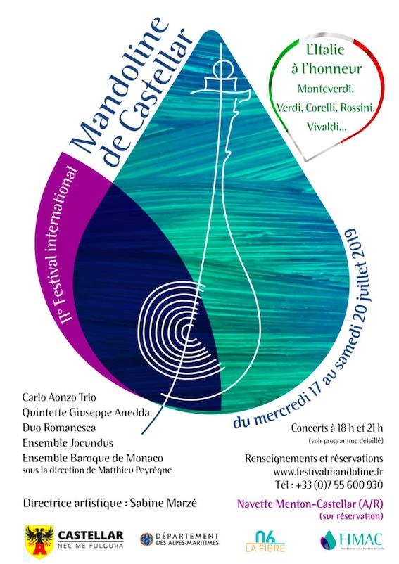 Festival International de Mandoline de Castellar 2019 du 17 au 20/7/19