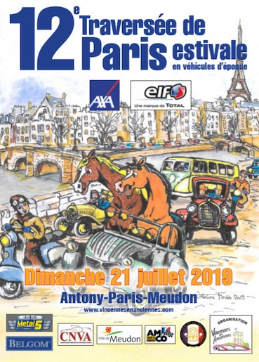 12e Traversée de Paris estivale en anciennes dimanche 21 juillet 2019