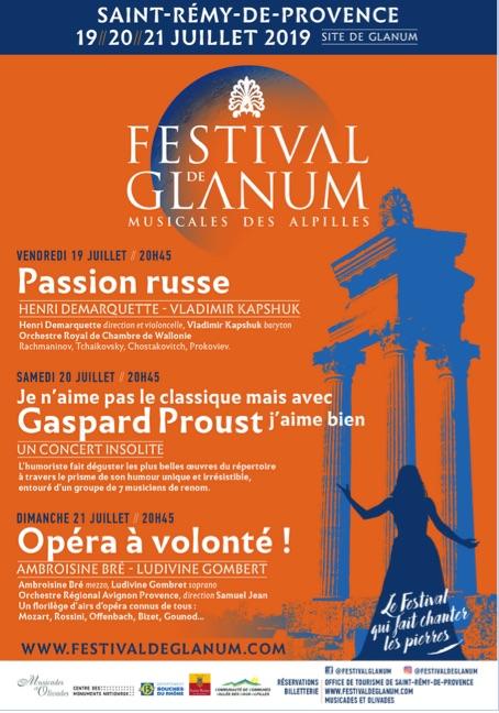 Festival de Glanum à St Rémy de Provence, 19, 20 et 21 juillet 19 : magique !