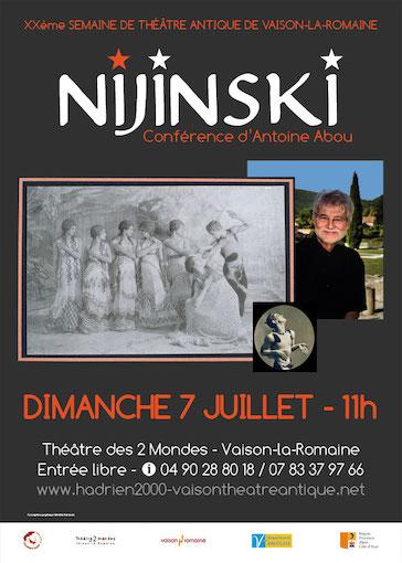 « Déméter, le réveil de la terre » et « Nijinsky », Semaine de Théâtre Antique, Vaison la Romaine, les 7 et 10 juillet 2019