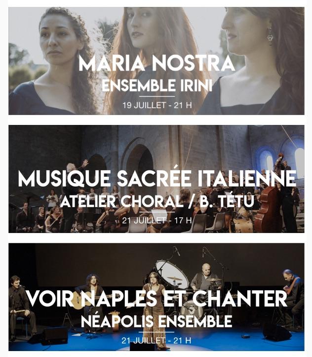 Festival de Sylvanès, les concerts de la semaine des 19 et 21 juillet 2019