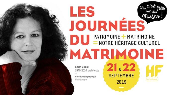 5e Edition des Journées du Matrimoine, 20-22 septembre '19