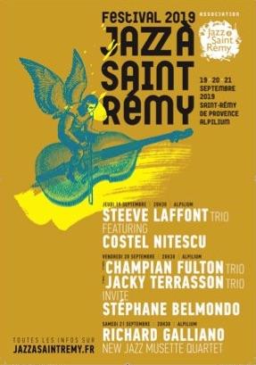 Festival Jazz à Saint-Rémy, Steeve Laffont trio featuring Costel Nitescu, Jacky  Terrasson et Richard Galliano en haut de l'affiche