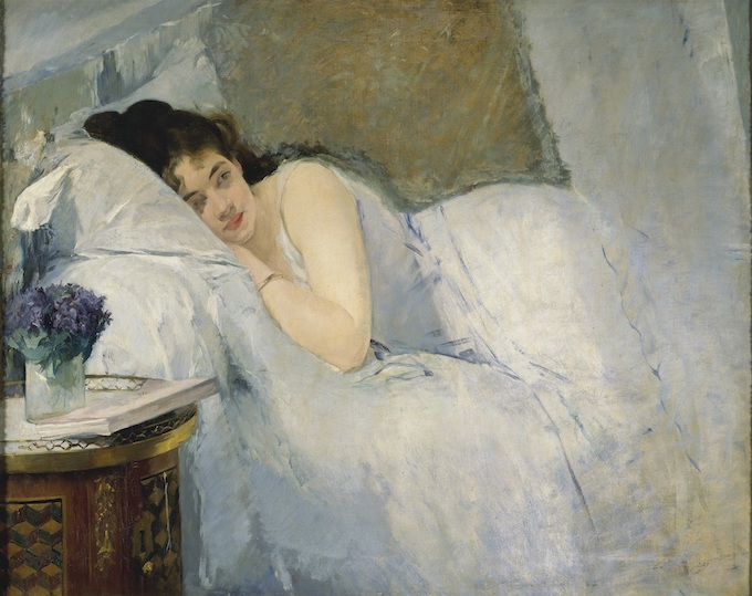 Eva Gonzalès Le Réveill [Erwachendes Mädchen] , 1877/78 Huile sur toile 81,1 x 100,1 cm Kunsthalle Bremen - Der Kunstverein in Bremen