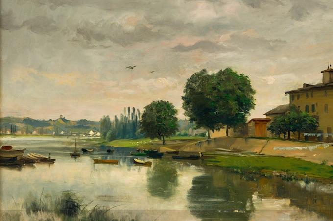 Claudius Barriot, Le Port de Frans, 1888, Villefranche-sur-Saône, musée municipal Paul-Dini © Didier Michalet