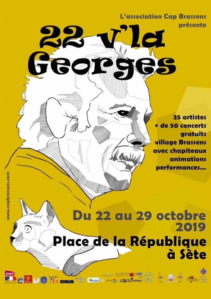 La 6e édition du festival 22 V'La Georges se déroulera du 22 au 29 octobre 2019 à Sète
